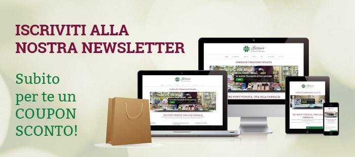 Iscrizione newsletter Farmacie comunali Orbassano Rivalta