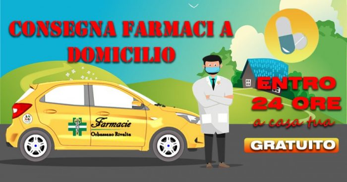 consegna farmaci a domicilio, il nuovo servizio di farmacie Orbassano